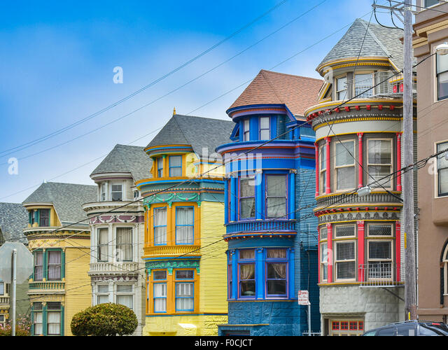 Victorian homes stock photos victorian homes stock for San francisco victorian houses