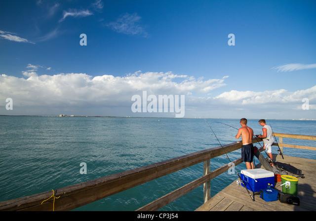 Florida fishing pier stock photos florida fishing pier for Sanibel fishing pier