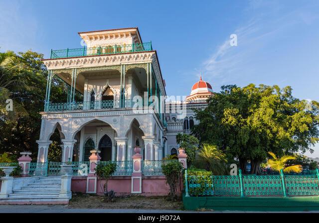 Exterior view of Palacio de Valle (Valle's Palace), Punta Gorda, Cienfuegos, Cuba, West Indies, Caribbean, Central - Stock Image