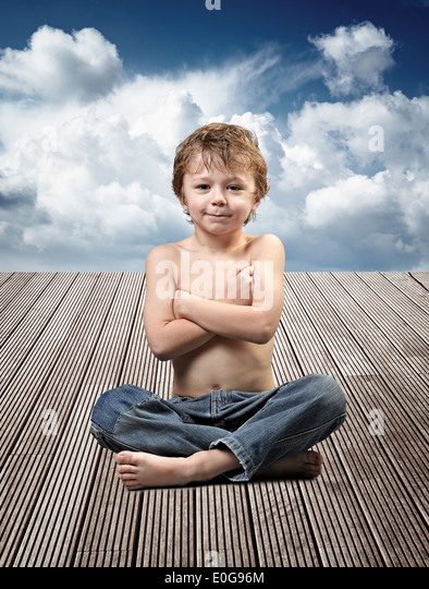 yoga kids boy children stock photos yoga kids boy children stock images alamy. Black Bedroom Furniture Sets. Home Design Ideas