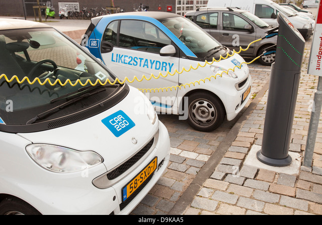 Electric Cars Amsterdam Stock Photos Electric Cars Amsterdam