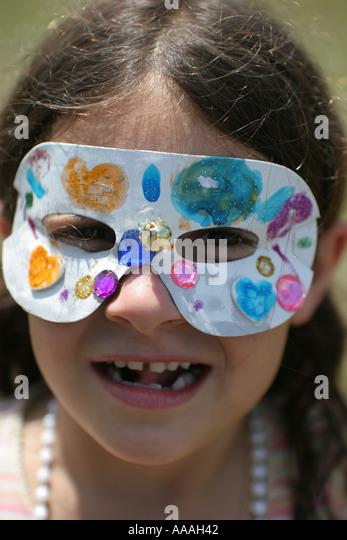 florida zydeco festival cajun girl mardi gras mask stock image