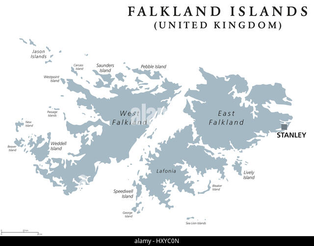 Falkland Islands Map Stock Photos Falkland Islands Map Stock - Falkland islands map
