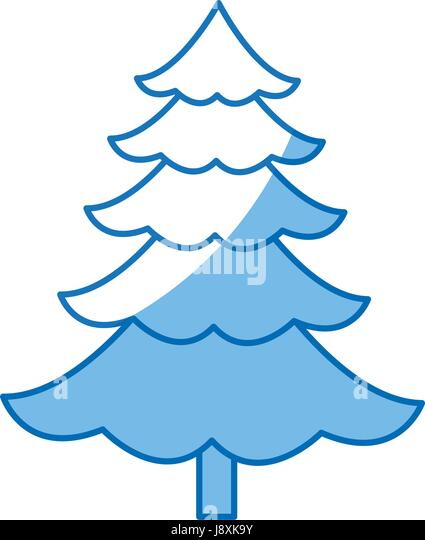 Cartoon Pine Tree Natural Plant Of Forest Image