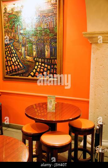 Miami Florida Dolphin Mall Mojitos Restaurant Bar Cuban Cuisine Food Dining Art Artist Cata Paintings Ambiance