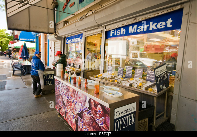 Little italy bronx food stock photos little italy bronx for Fish bar nyc