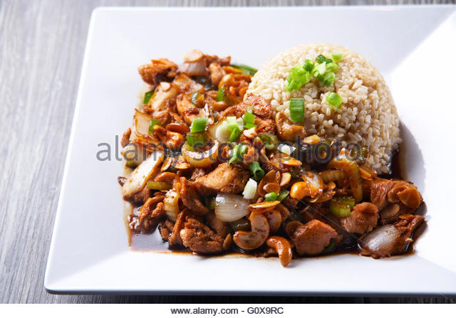 how to make chicken stir fry with brown rice