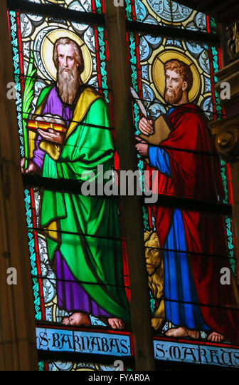 Wighton United Kingdom  city photo : Stained Glass window in St. Vitus Cathedral, Prague, depicting Saint ...