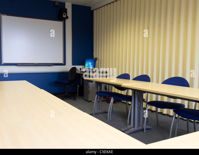 Modern Classroom Board ~ Smartboard stock photos images alamy