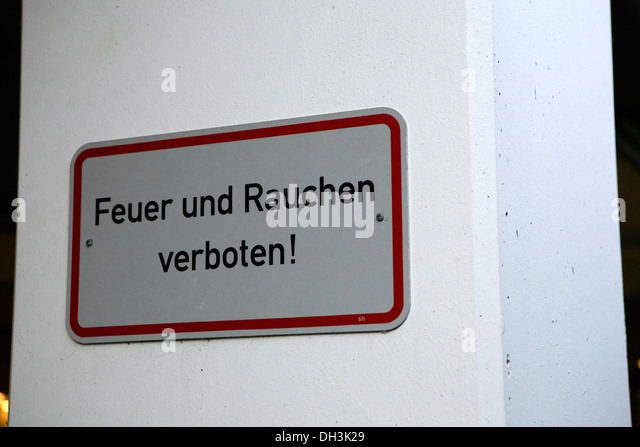german smoking sign stock photos german smoking sign stock images alamy. Black Bedroom Furniture Sets. Home Design Ideas