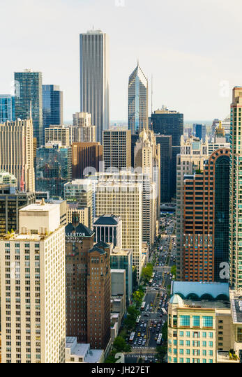 Skyscrapers, Chicago, Illinois, United States of America, North America - Stock Image