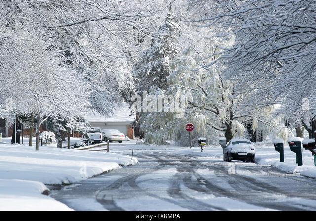 Snowy Neighborhood 2 Vertical Stock Photo & Stock Images | Bigstock