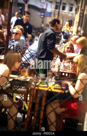 Waiter Summer Eating Outside Stock Photos Amp Waiter Summer