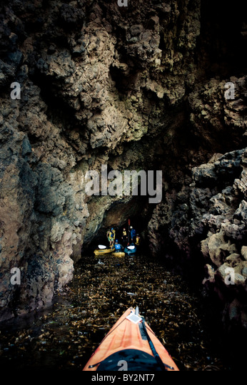 Channel islands california cave stock photos channel for Deep sea fishing santa cruz