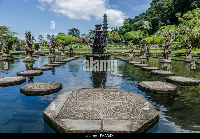 Tirta Gangga Royal Water Garden: Indonesia Bali Tirtagangga Water Palace Stock Photos