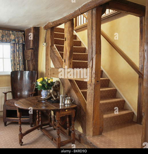Balustrade Coffee Table Legs Canada: Cottage Interior Staircase Stock Photos & Cottage Interior