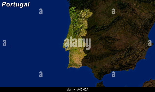 Map Satellite Geography Portugal Stock Photos Map Satellite - Portugal map satellite