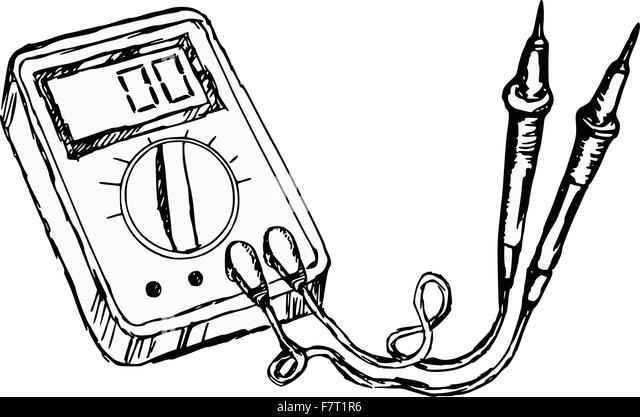 Tool Vector Electrician Black And White Stock Photos Images