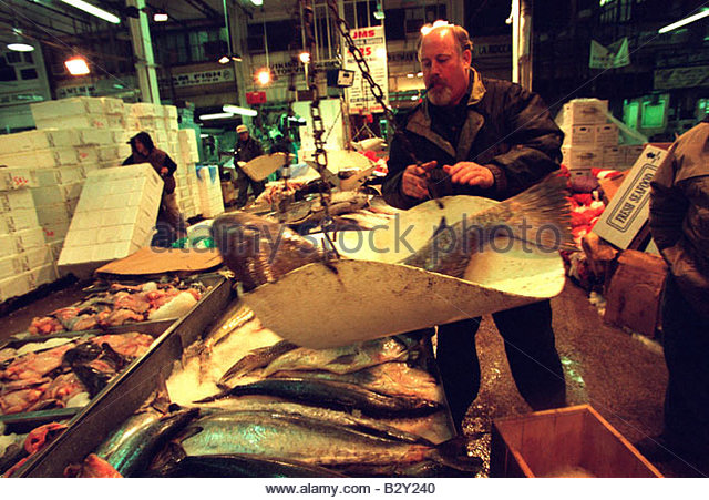Fulton fish market stock photos fulton fish market stock for Fulton fish market