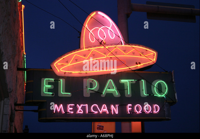 Awesome El Patio Mexican Restaurant   Austin TX   Stock Image