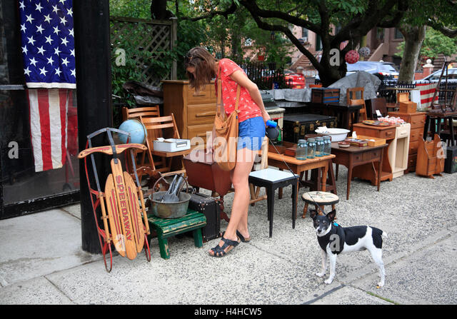 second hand furniture brooklynnew york usa stock image