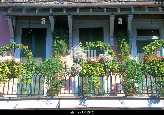 Balcony plants in french quarter stock photos balcony for French quarter balcony