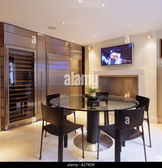 townhouse contemporary furniture. 1850s london townhouse fitted with contemporary furniture and technology stock image
