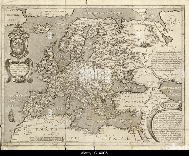 Medieval Map Europe Stock Photos Medieval Map Europe Stock - Us wildlife map of the 1400s