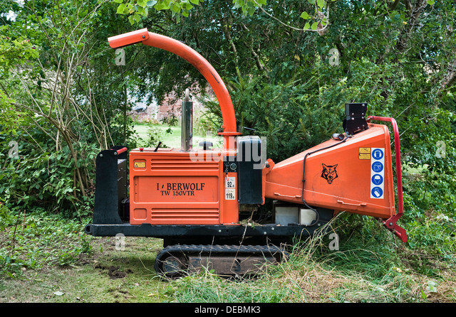 garden shredder. A Tracked Timberwolf Wood Chipper Or Garden Shredder For Producing Mulch From Tree Prunings Etc