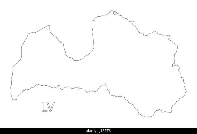 Grey Latvia Map Stock Photos Grey Latvia Map Stock Images Alamy - Latvia map outline