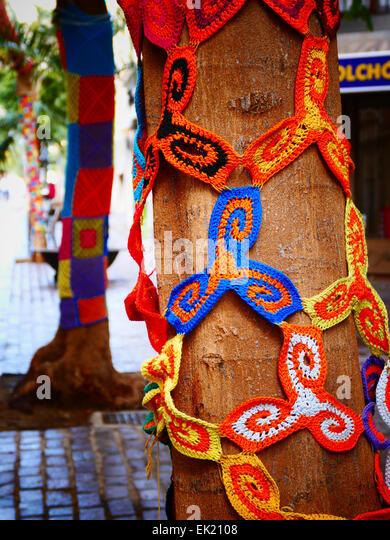 Urban Knitting Graffiti : Graffiti knitting stock photos