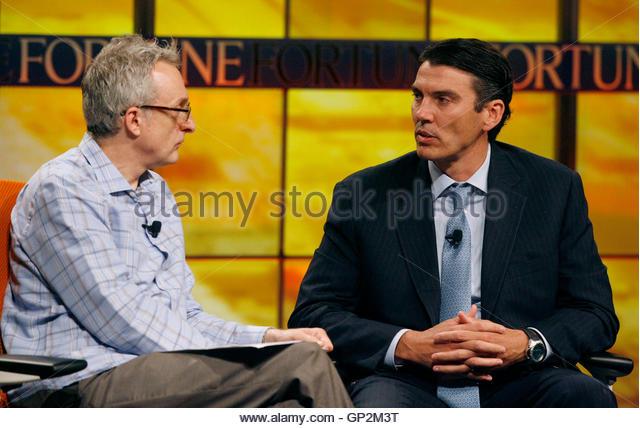 Fortune Magazines David Kirkpatrick Interviews Stock Photos ...