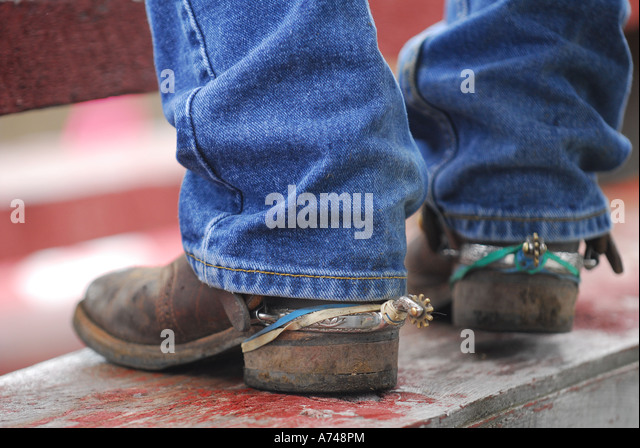 Cowboy Boots Spurs Used Cowboy Stock Photos & Cowboy Boots Spurs ...