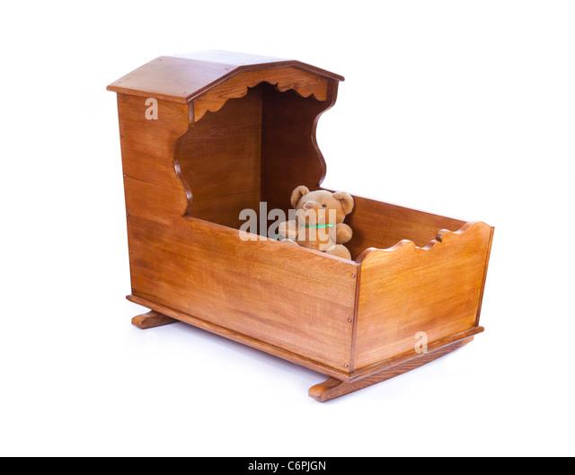 wooden crib cot - Stock Image - Wooden Crib Stock Photos & Wooden Crib Stock Images - Alamy