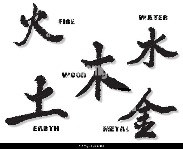 chinese symbols earth fire water stock photos amp chinese