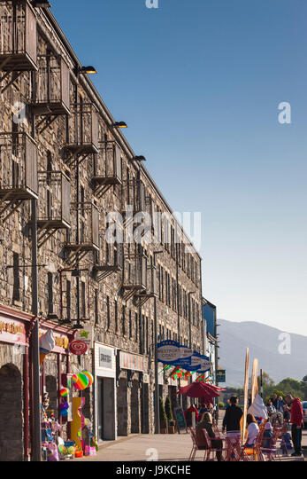 Ireland County Mayo Westport Quay Harborfront Buildings Stock Image With  Kche Industrial.