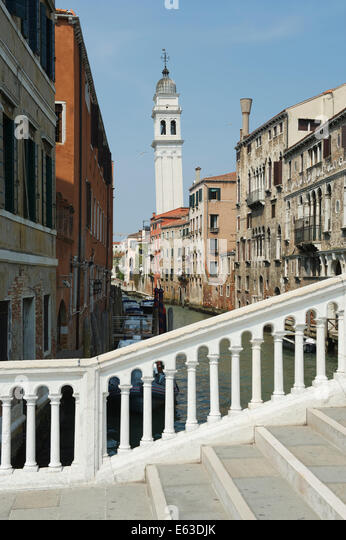 bridge over canal venetian architecture stock photos