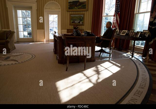 Oval Office White House Desk Stock Photos Oval Office