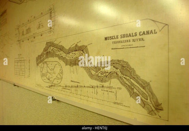 A 16 Foot Replica Of An 1888 Muscle Shoals Map Is On Display At The