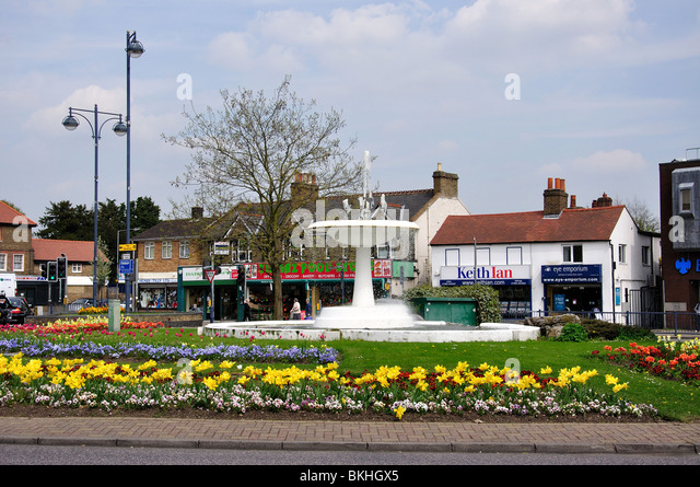 Turners Hill Fountain Cheshunt Hertfordshire England United Kingdom