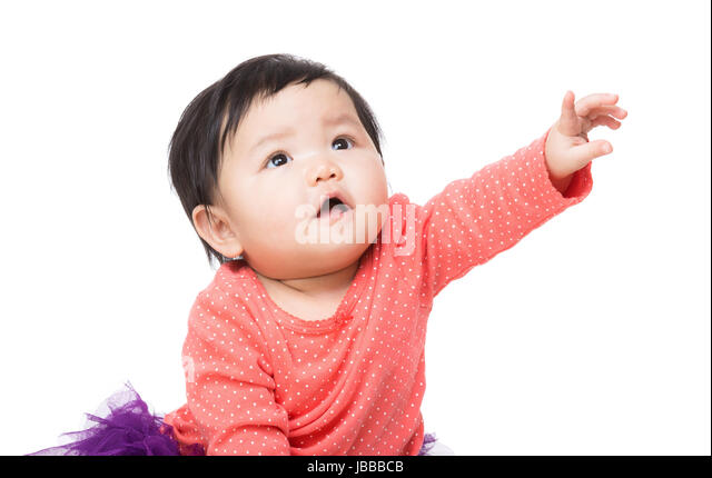 Little Cute Baby Girl Pointing Stock Photos & Little Cute ... Cute Baby Pointing Finger