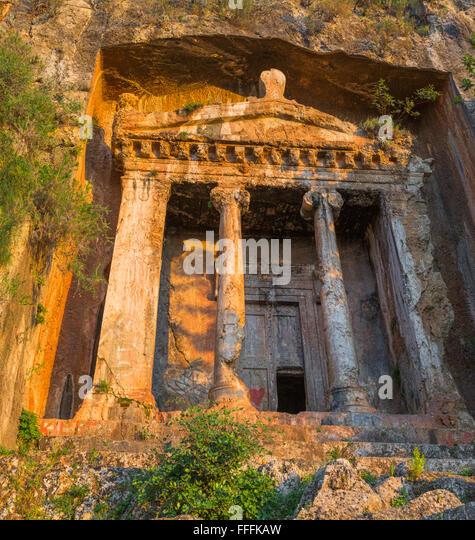 Tomb Amyntas Fethiye Mugla Province Stock Photos & Tomb ...