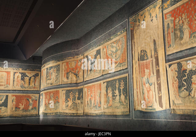 France, Loire Valley, Lock Angers, Gallery Of The Apocalypse, Tapestries,
