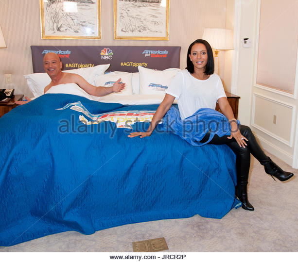 howie mandel melanie brown americas got talent pajama party to celebrate the