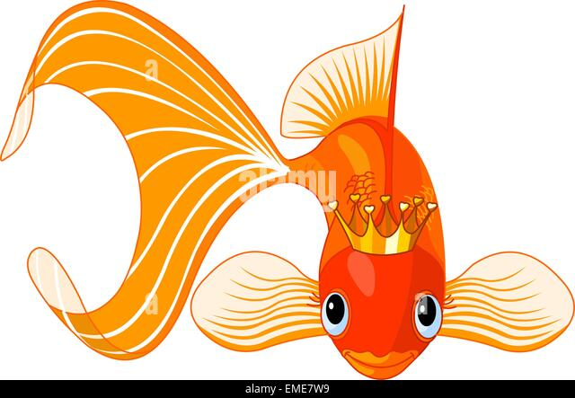 Queen with magic fish stock photos queen with magic fish for The magic fish