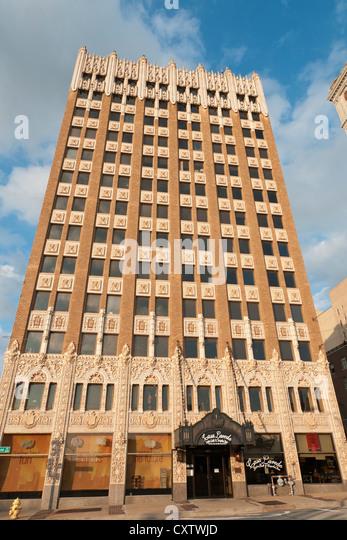oklahoma tulsa downtown art deco office building stock image art deco office building