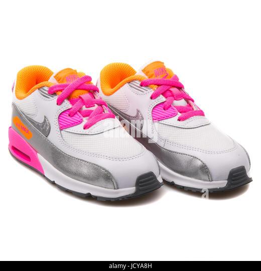Nike Blanc Running Chaussures  Stock Photos & Nike Blanc Running Chaussures