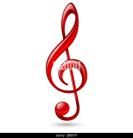 Treble Clef Cut Out Stock Images Pictures Alamy