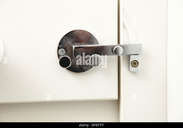 Bathroom Stall Knob locking bathroom door handles - chrome bathroom handle and latch