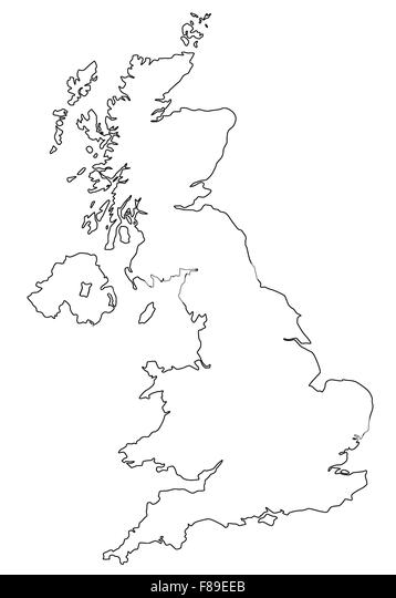 Great Britain Map Black and White Stock Photos  Images  Alamy